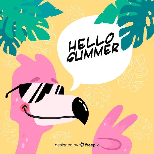 Hello summer background Free Vector