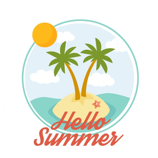 premium vector hello summer illustration vector with cute summer icon and character https www freepik com profile preagreement getstarted 1747409