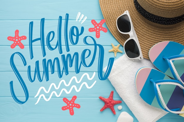 Ciao citazione scritta estate Vettore gratuito