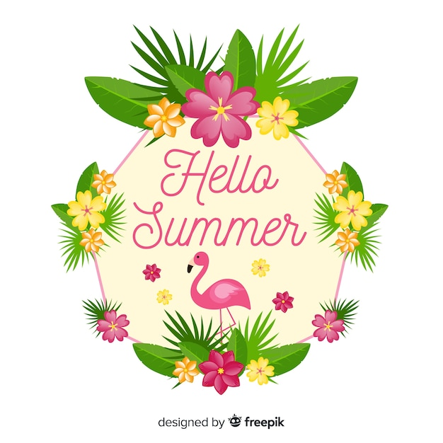Hello summer Free Vector