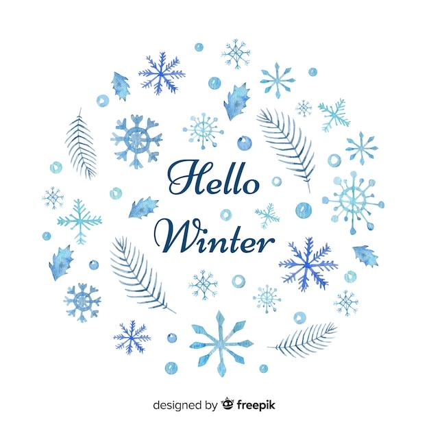 Ciao sfondo invernale Vettore gratuito