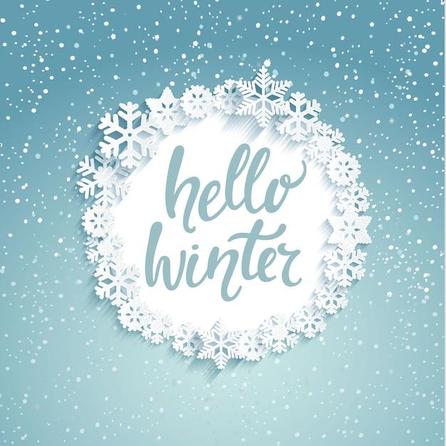 Hello winter greeting card vector premium download hello winter greeting card premium vector m4hsunfo