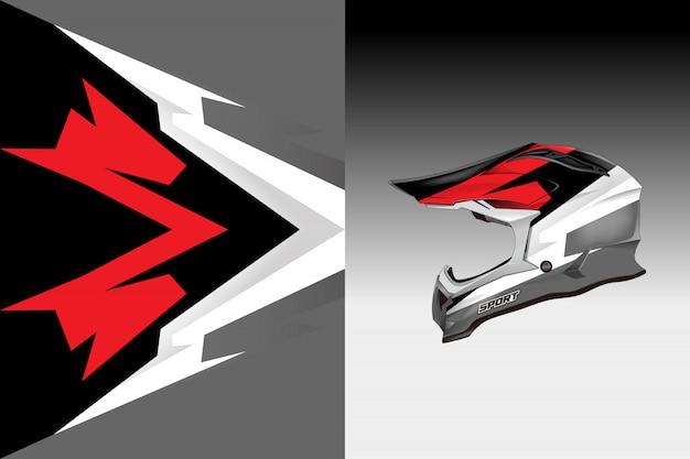 Helmet decal wrap designs vector livery designs Premium Vector