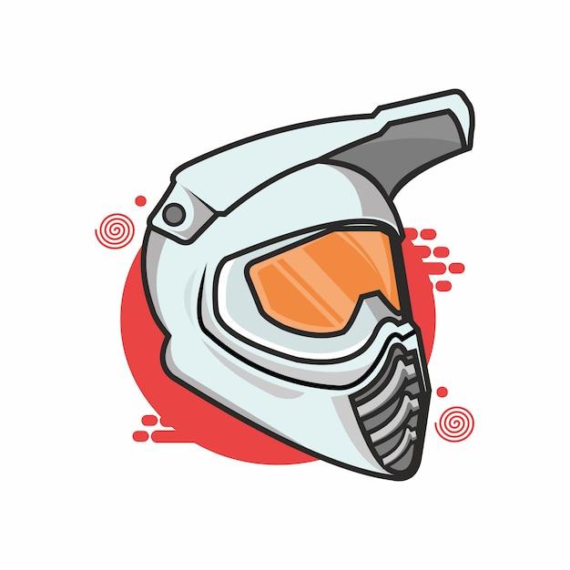 Helmet race Premium Vector
