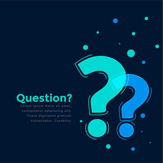 Help and support page template with question mark Free Vector