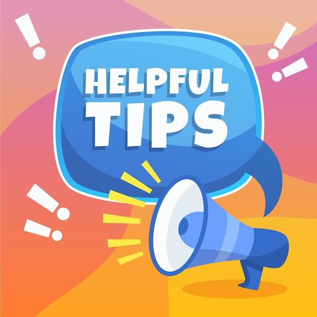 Helpful tip background Free Vector