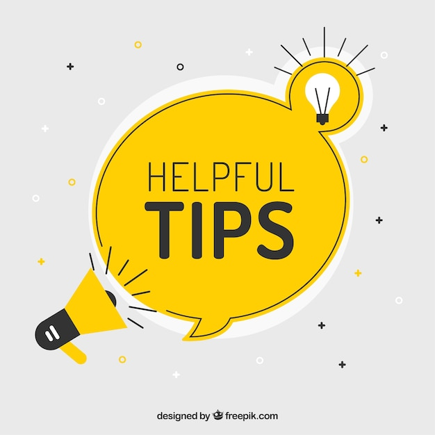 Helpful tip composition with flat design Free Vector