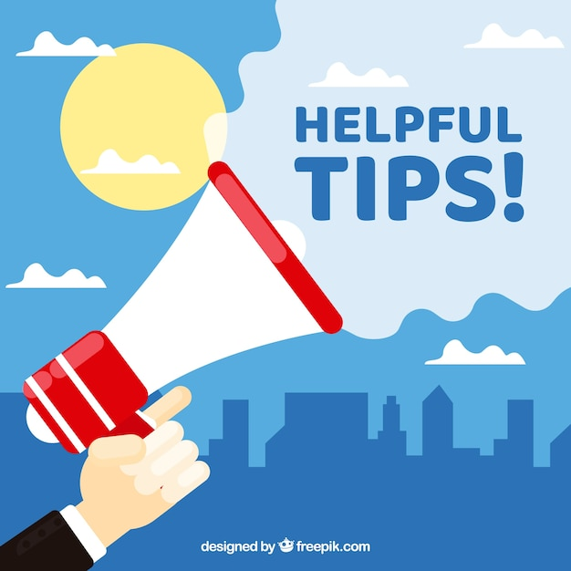 Helpful tip concept with flat design Free Vector