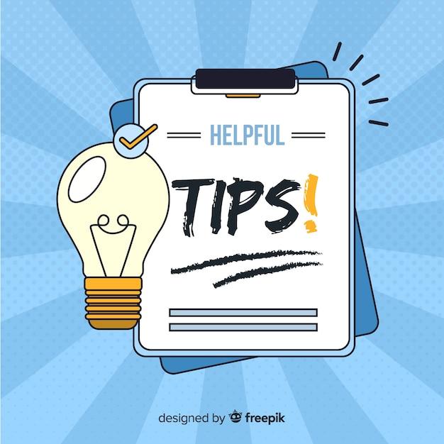 Helpful tips on clipboard Free Vector