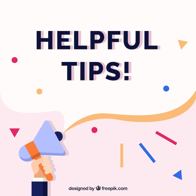 Helpful tips composition with flat design Free Vector