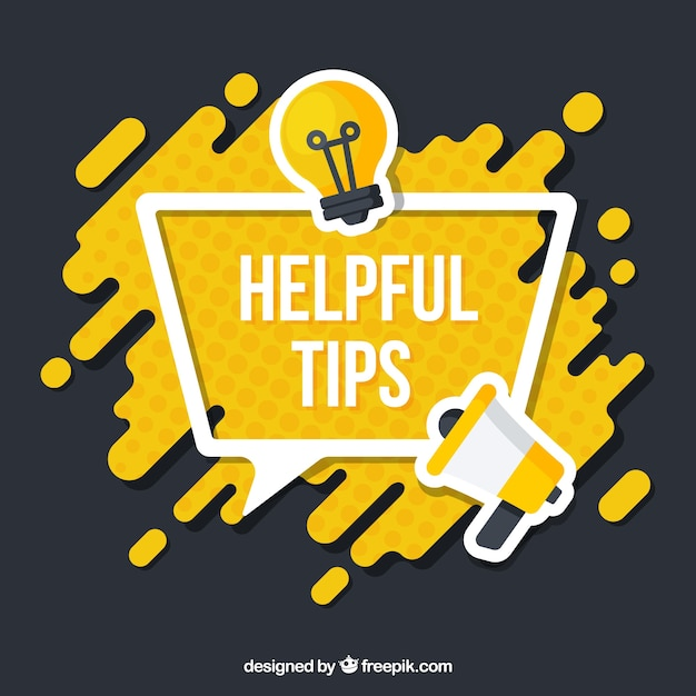 Flat speech bubble helpful tips background Vector | Free
