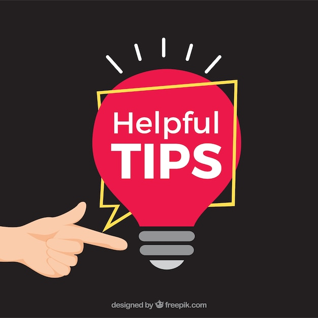 Helpful tips concept with flat desing Free Vector