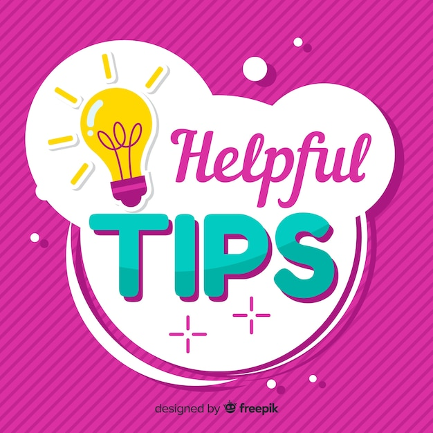 Helpful tips Free Vector