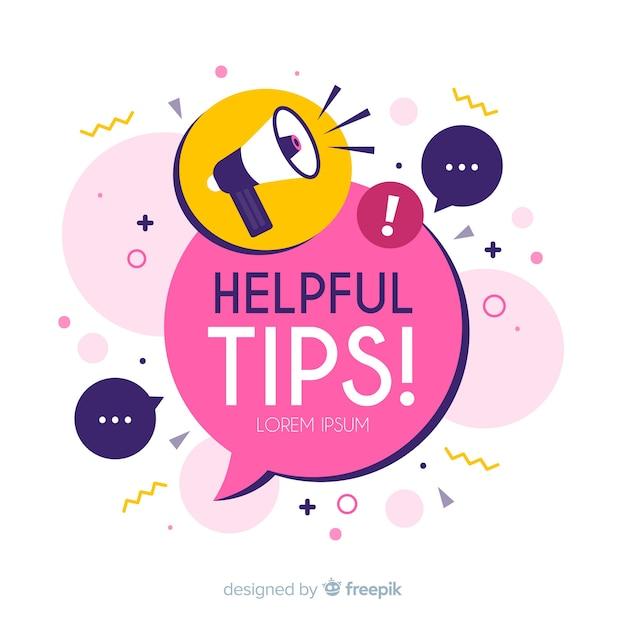 Helpful tips Free Vector