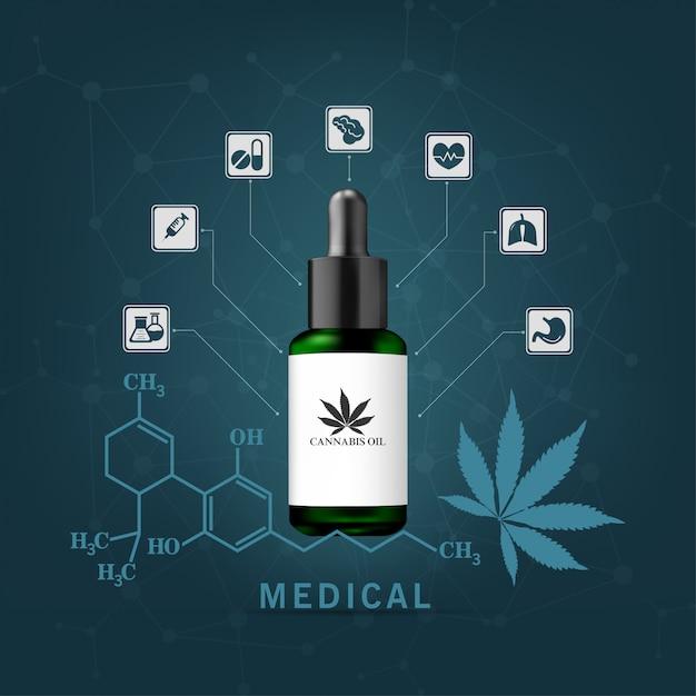 麻油は多くの病気の治療のために抽出されます。医療用 Premiumベクター