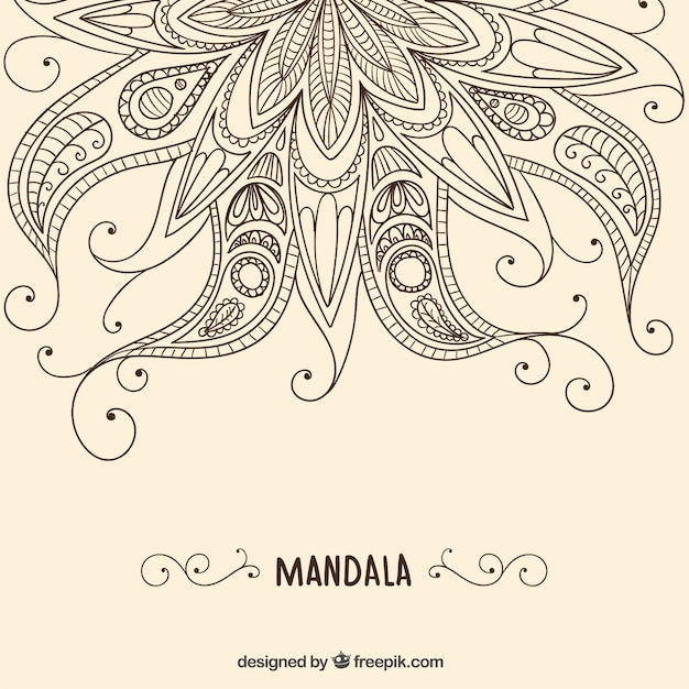 Henna Background Vector Free Download