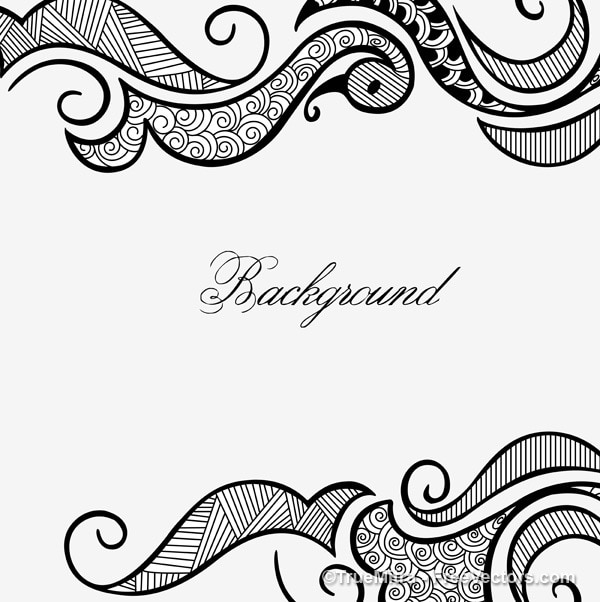 Henna Design Frame White Backgraund Vector Free Download