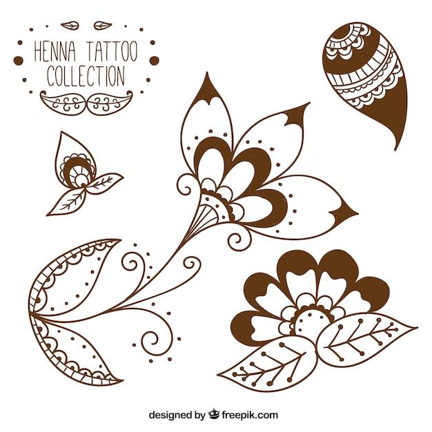 Henna Tattoo Vector: Henna Tattoo Studio Vector
