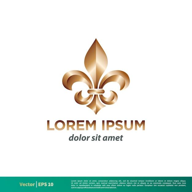 Heraldic Fleur De Lis Logo Template Vector