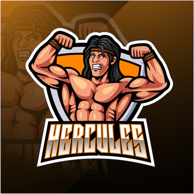 Hercules esport mascot logo Premium Vector