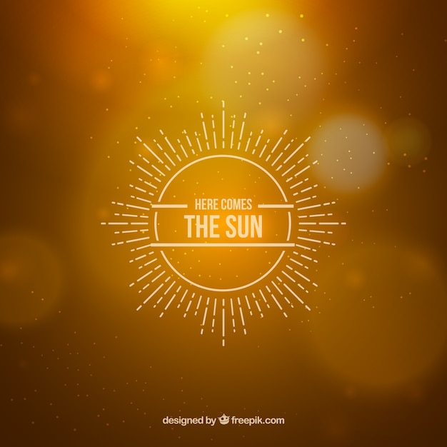 Here comes the sun Free Vector