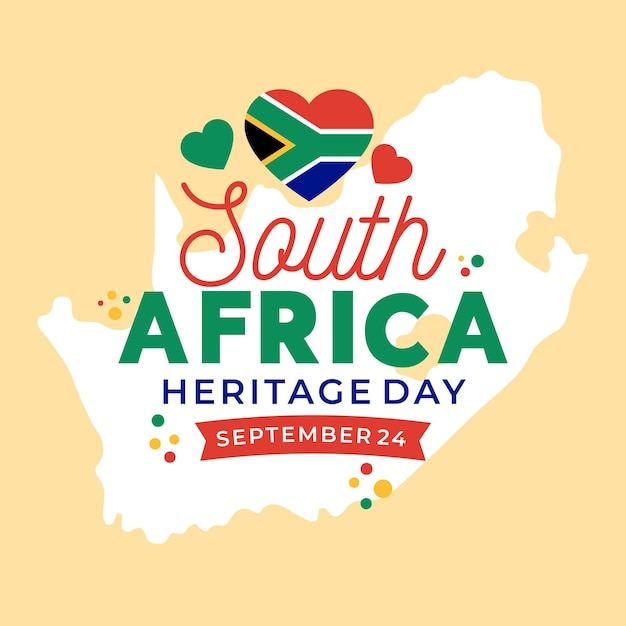 Heritage day event Free Vector