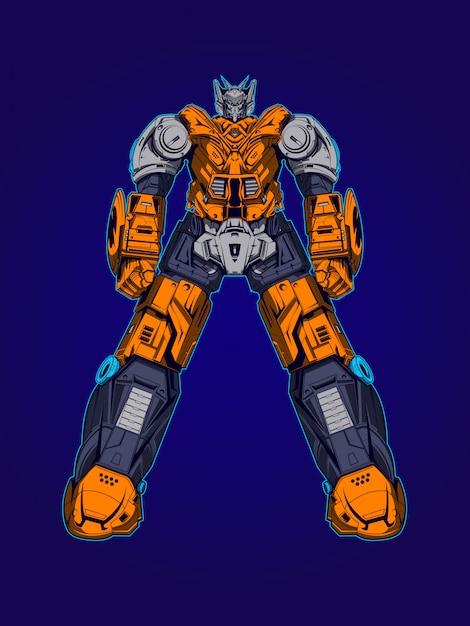 Herobotz robot illustration Premium Vector