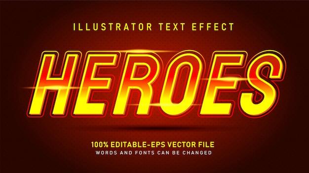 ヒーローのテキストスタイルの効果 Premiumベクター