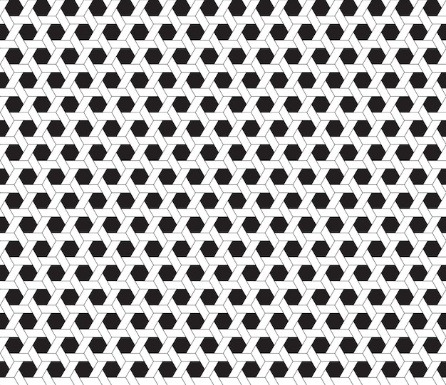 Hexagon black and white background Premium Vector