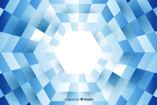 Hexagon formed by lined up rectangles background Free Vector