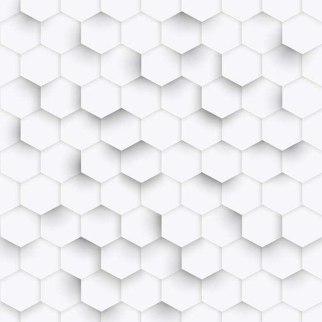 Hexagon geometric pattern background Premium Vector