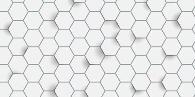 Hexagon pattern Free Vector