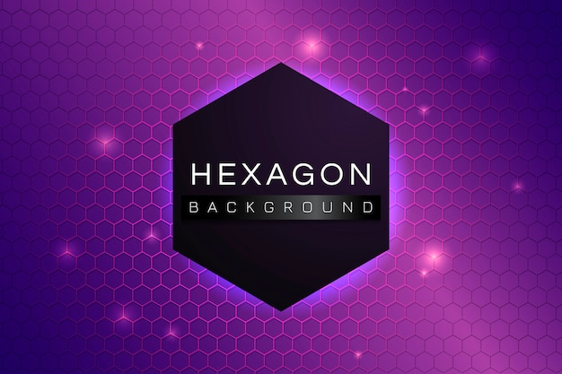 Hexagon patterned background Free Vector
