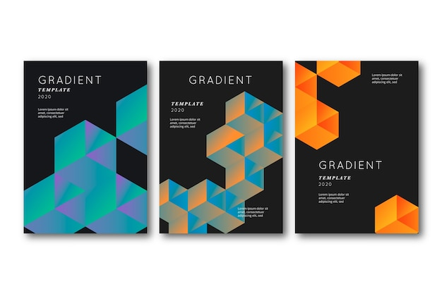Гексагональной 3d формы покрытия на темном фоне Бесплатные векторы