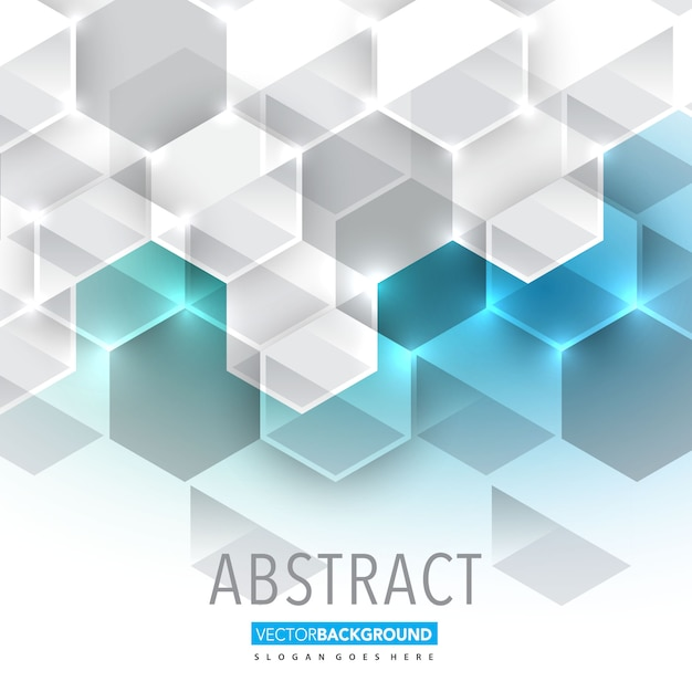 hexagonal abstract background Free Vector