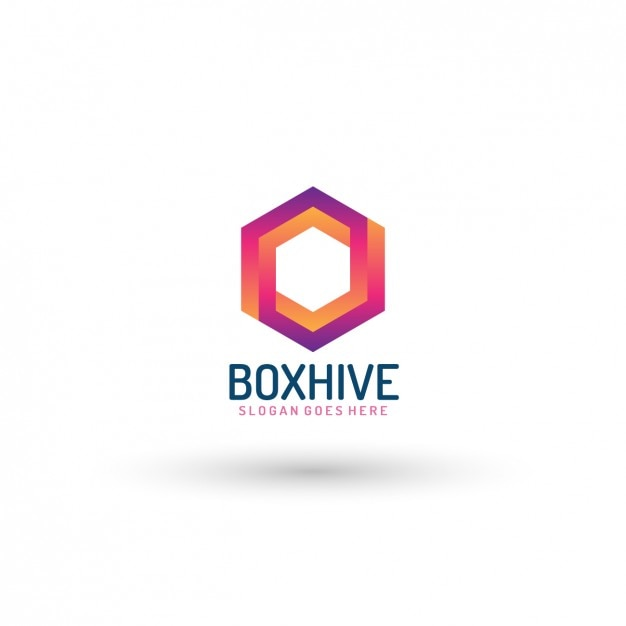 Hexagonal Company Logo Template