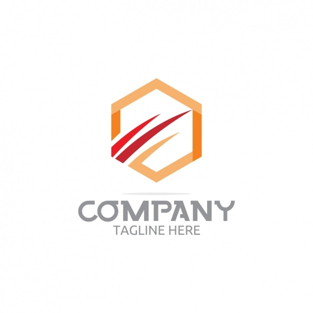 Hexagonal company logo