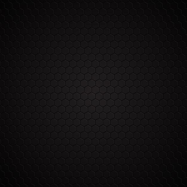 Hexagonal dark pattern background Free Vector