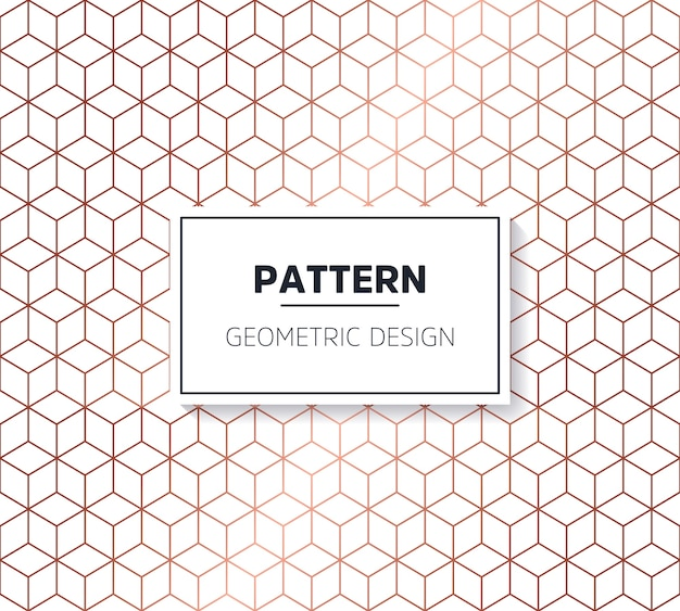 Hexagonal decorative pattern Free Vector