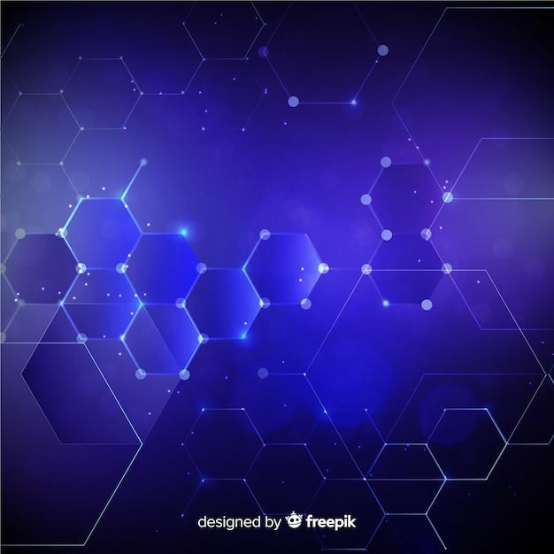 Hexagonal grid background Vector   Free Download