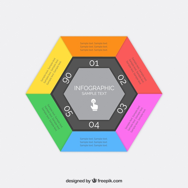 Hexagonal Infographic Template Vector Free Download