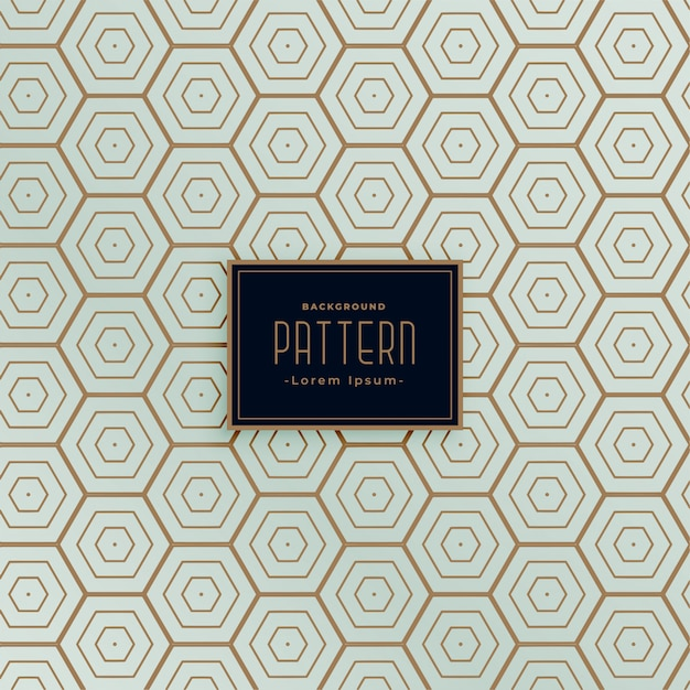 Hexagonal line seamless pattern design Free Vector