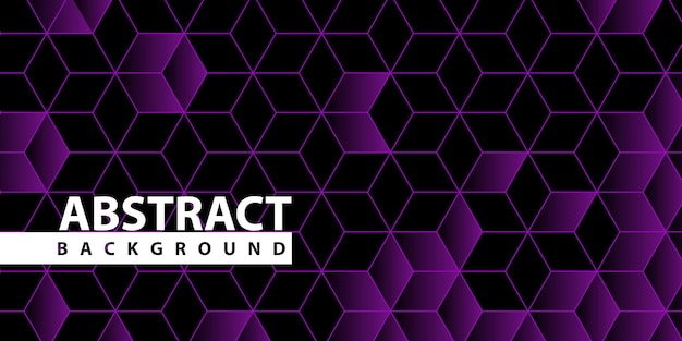 Hexagonal line and shape pattern background Free Vector