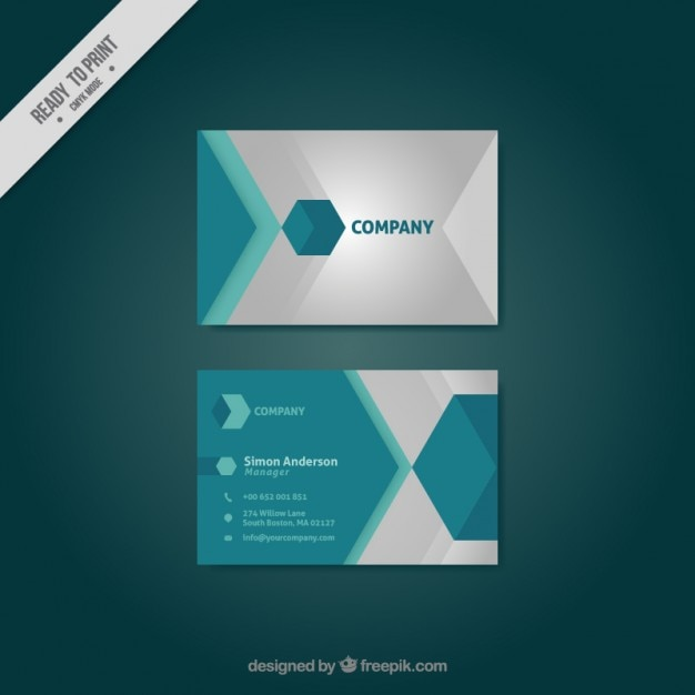 Hexagonal modern company business