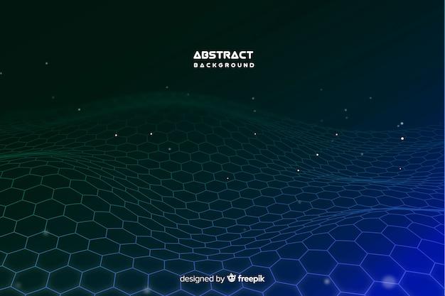 Hexagonal net background Free Vector