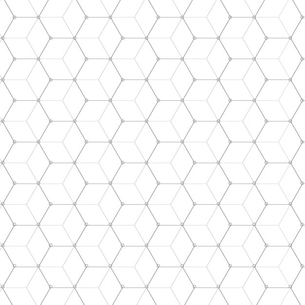 Hexagonal pattern Free Vector