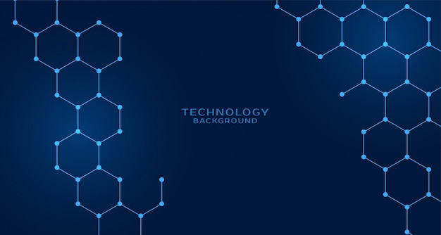 Hexagonal shape technology background Free Vector