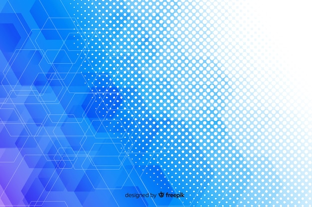 Hexagonal shapes background concept Free Vector