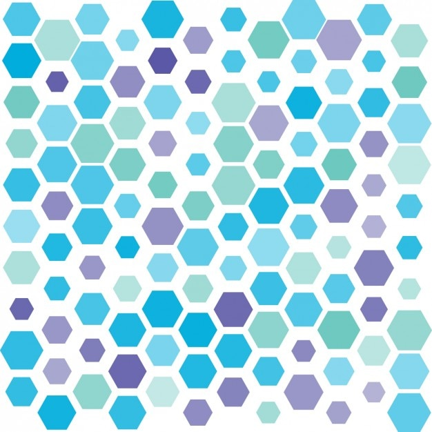 Hexagonal shapes background Vector | Free Download