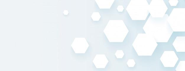 六角形の空の広いバナー抽象的なデザイン 無料ベクター